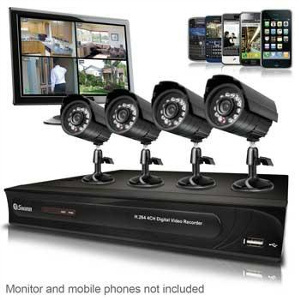 Cctv security camera system installation and configuring for Web tv camera